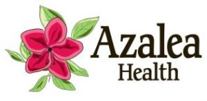 azalea health logo with pink flower