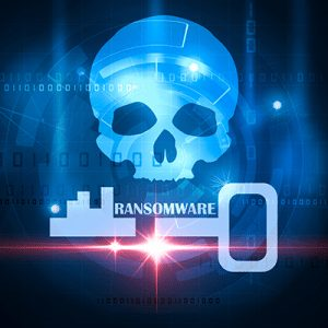ransomware skull key icon