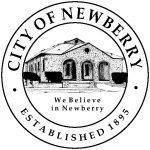 city of newberry black and white logo