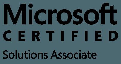 microsoft certified solutions associate transparent logo