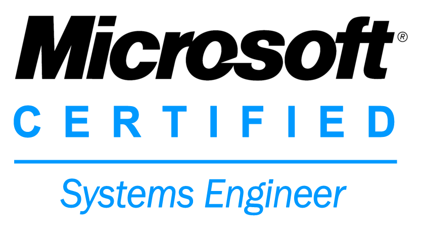 microsoft certified systems engineer transparent logo