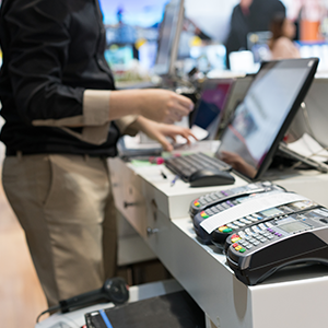 payment processing setup at retail store