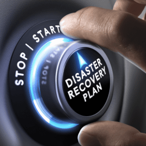 Disaster recovery plan button